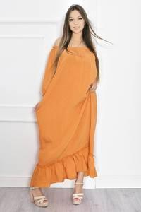 Платье длинное летнее желтое Т6695