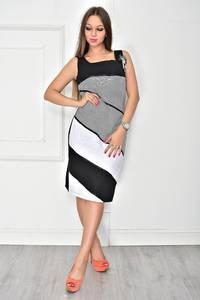 Платье короткое без рукавов классическое У7891
