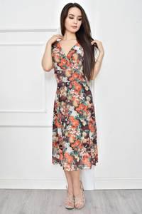 Платье короткое летнее с принтом Т7777