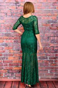 Платье длинное зеленое вечернее П6039