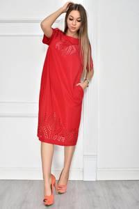 Платье короткое нарядное красное У7743