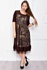 Платье длинное вечернее нарядное С9051