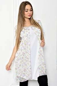 Блуза белая нарядная Т1802