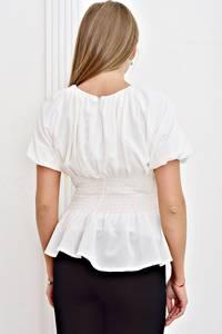 Блуза белая с коротким рукавом Т4468
