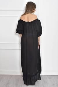 Платье длинное летнее черное Т6696