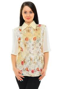 Рубашка с принтом с коротким рукавом М5502
