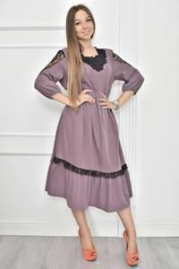 Платье короткое нарядное с кружевом Т7452