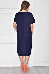 Платье короткое нарядное синее У7744