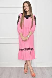 Платье короткое нарядное с кружевом Т7453