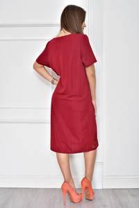 Платье короткое нарядное красное У7745
