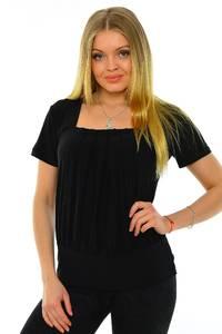 Блуза черная офисная М6991