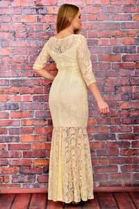 Платье длинное желтое вечернее П6040