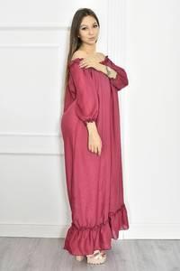 Платье длинное летнее красное Т6699