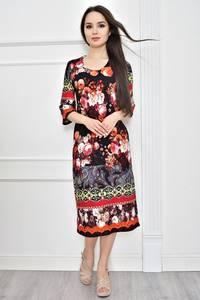Платье короткое летнее с принтом Т7780