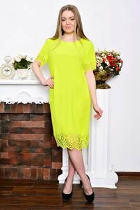 Платье короткое желтое вечернее Р7306