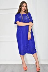 Платье короткое нарядное синее У7747