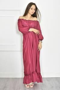 Платье длинное летнее красное Т6700