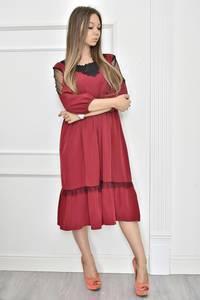 Платье короткое нарядное с кружевом Т7455