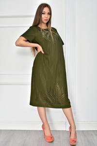 Платье короткое нарядное зеленое У7748