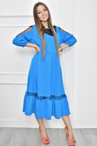 Платье короткое нарядное с кружевом Т7456