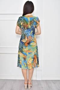 Платье короткое летнее с принтом Т7781