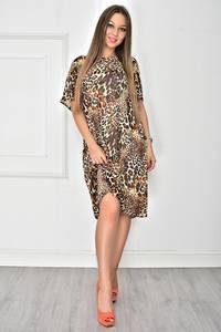Платье короткое с принтом летнее У7897