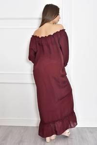 Платье длинное летнее красное Т6701