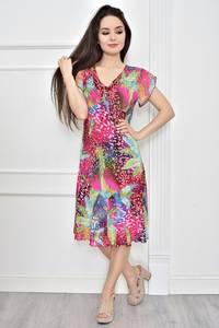 Платье короткое летнее с принтом Т7782