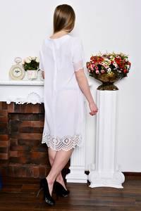 Платье короткое белое вечернее Р7307
