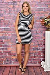 Платье короткое повседневное без рукавов Т5904