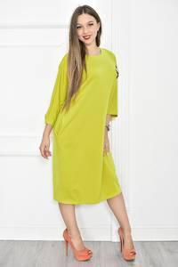 Платье длинное желтое однотонное Т6795