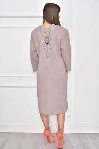 Платье короткое нарядное с кружевом Т7457