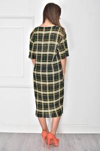 Платье короткое с принтом повседневное У7898