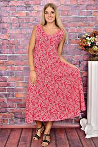 Платье длинное красное повседневное Т5906
