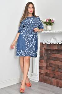 Платье короткое с принтом летнее Ф0110