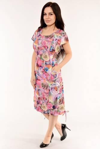 Платье длинное с коротким рукавом летнее И6134