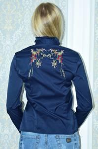 Рубашка синяя с длинным рукавом Р9785