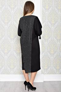 Платье длинное вечернее черное Т1985