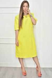Платье короткое нарядное желтое Т7470