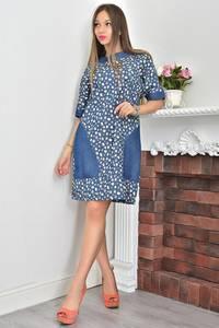 Платье короткое с принтом летнее Ф0111