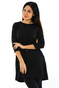Туника-платье короткое черное вечернее М7753
