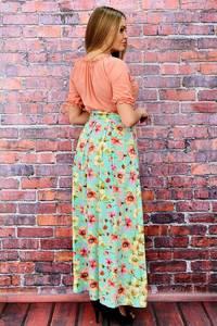 Платье длинное летнее с принтом П6468