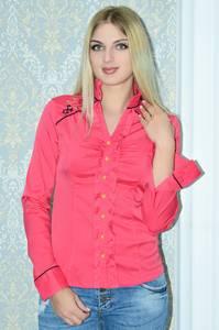 Рубашка красная с длинным рукавом Р9786