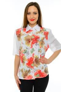 Рубашка белая с принтом М6824