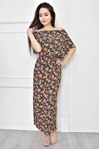 Платье длинное летнее с принтом Т7785