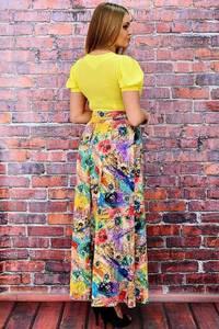 Платье длинное летнее с принтом П6469
