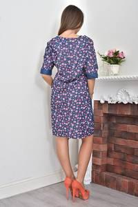 Платье короткое с принтом летнее Ф0112