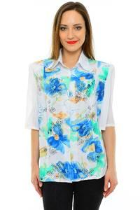Рубашка белая с принтом М6825