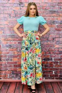 Платье длинное летнее с принтом П6470