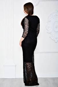 Платье длинное черное вечернее П7114
